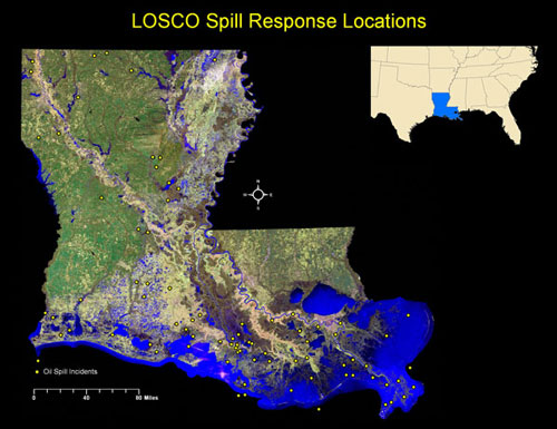 LOSCO Spill Repsonse Locations Map